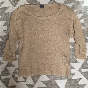 Sparkle and Fade tan sweater S
